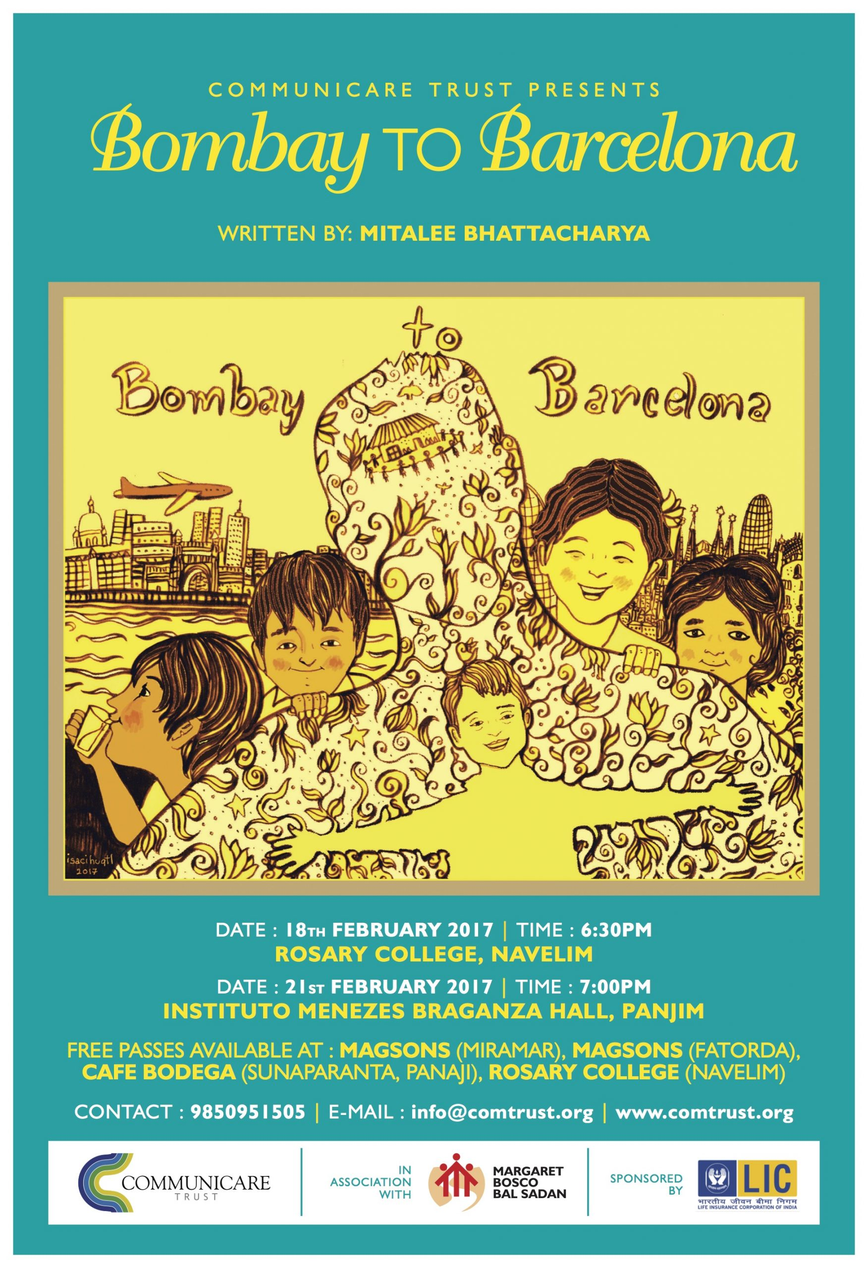 Jpeg Bombay to Barcelona Poster Panaji