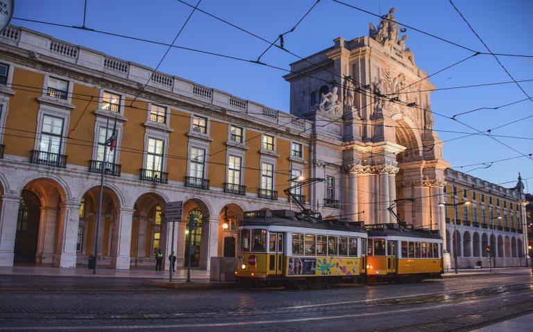 building, tram, city