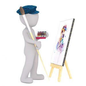 paint, white male, 3d model
