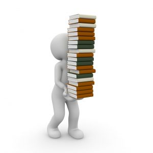 books, stack, learn