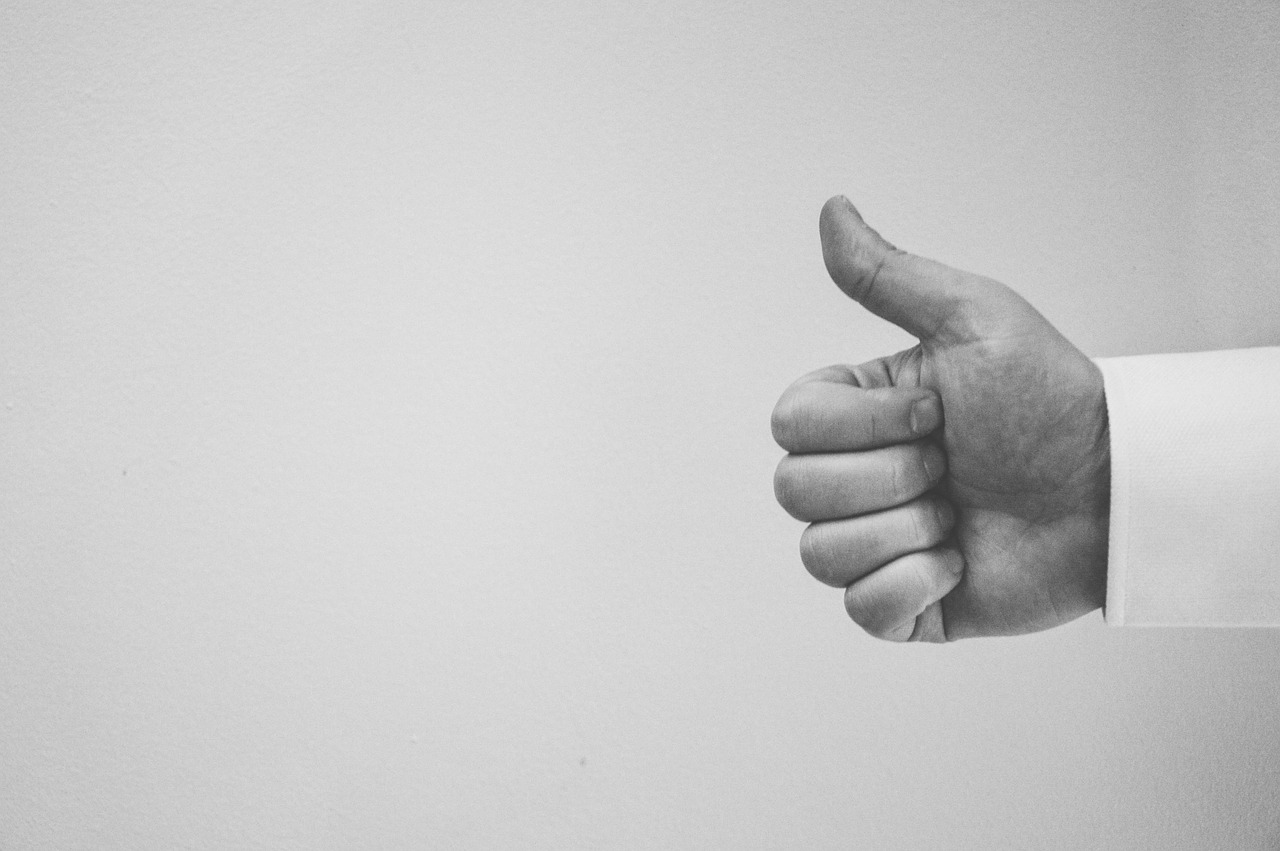 thumbs up, hand, people