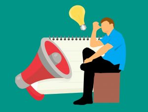 content marketing, megaphone, loudspeaker